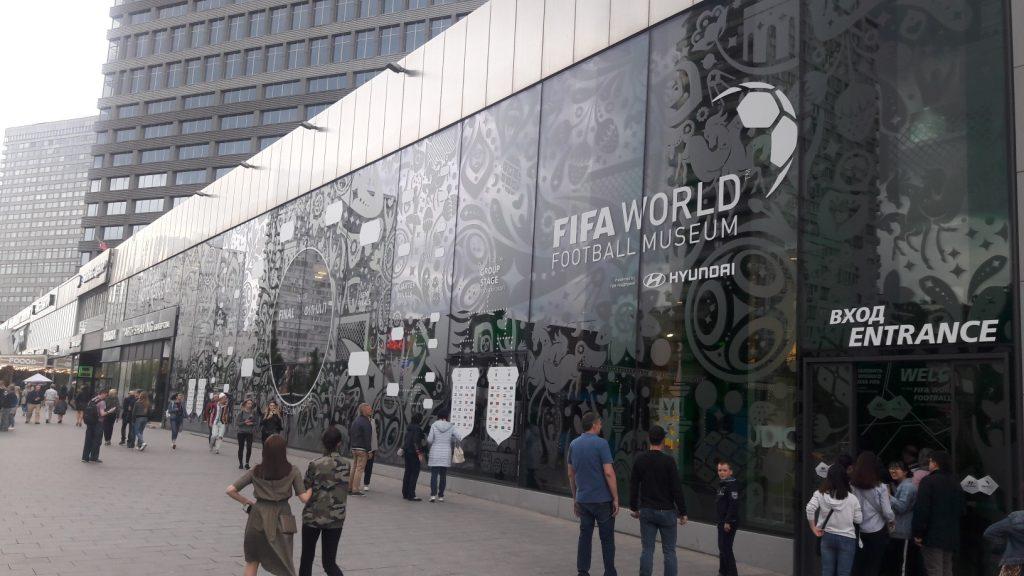 Fachada do Museu da Fifa em Moscou (Foto: Fábio Aleixo)